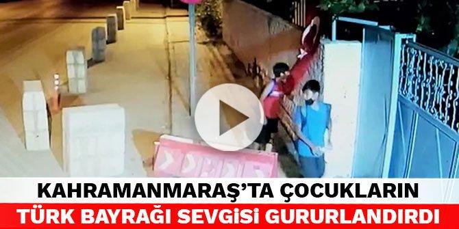 Kahramanmaraş'ta çocukların Türk Bayrağı sevgisi gururlandırdı