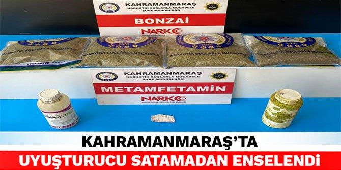 Kahramanmaraş'ta uyuşturucu satamadan enselendi