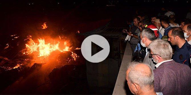 Kahramanmaraş'ta ekiplerin yoğun mesaisiyle faciadan dönüldü