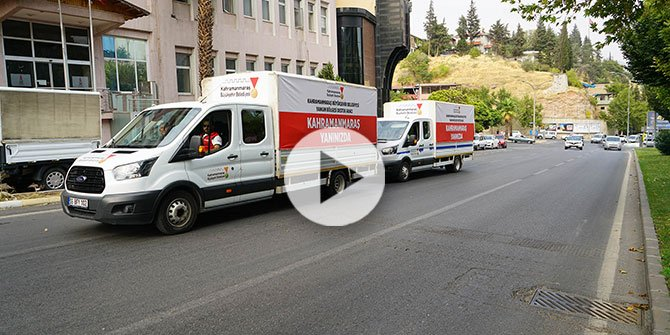 Kahramanmaraş Büyükşehir'den yangın bölgesine bir destek daha