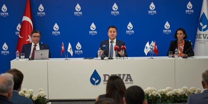Babacan, Deva Partisi'nin afet eylem planını açıkladı