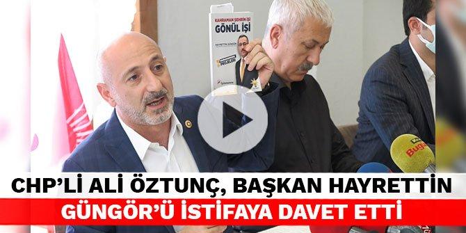 CHP'li Ali Öztunç, Başkan Hayrettin Güngör'ü istifaya davet etti
