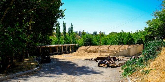 Dereköy Güreş Sahası inşaatı devam ediyor