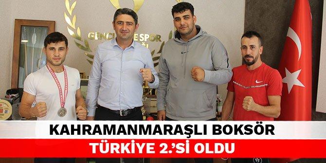 Kahramanmaraşlı boksör Türkiye 2.'si oldu