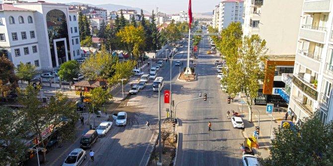 Büyükşehir Kartalkaya Caddesi'ni yeniledi