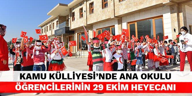 Dulkadiroğlu Kamu Külliyesi'nde ana okulu öğrencilerinin 29 ekim heyecanı