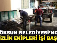 Göksun Belediyesi'nde temizlik ekipleri işi başında