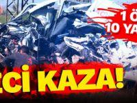 Feci kaza! 1 ölü 10 yaralı...