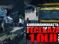 Kahramanmaraş'ta feci kaza! 1 ölü, 3 ağır yaralı