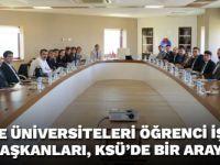 Bölge Üniversiteleri Öğrenci İşleri Daire Başkanları, KSÜ'de Bir Araya Geldi