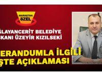 Tüm Türkiye'ye ve Hemşehrilerime şükranlarımı sunuyorum