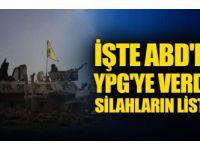 İşte ABD'nin YPG'ye verdiği silahların listesi!