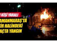 Kahramanmaraş'ta Seyir Halindeki Araçta Yangın: 1 Kişi Yaralı