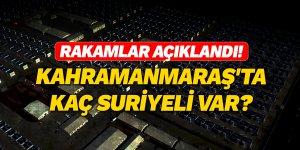 Rakamlar açıklandı! Kahramanmaraş'ta kaç Suriyeli var?