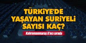 Türkiye'de yaşayan Suriyeli sayısı kaç? Kahramanmaraş 6'ncı sırada