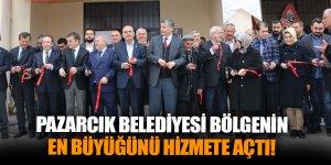 Pazarcık Belediyesi bölgenin en büyüğünü hizmete açtı!