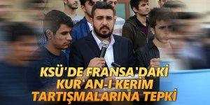 KSÜ'de Fransa'daki Kur'an-ı Kerim Tartışmalarına Tepki