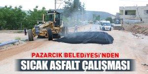Pazarcık Belediyesi'nden sıcak asfalt çalışması