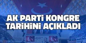 AK Parti kongre tarihini açıkladı
