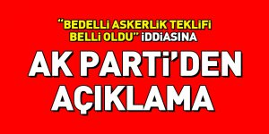 Bedelli teklifine ilişkin AK Parti'den açıklama