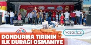 Dondurma tırının ilk durağı Osmaniye