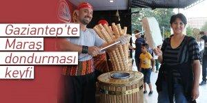 Gaziantep'te Maraş dondurması keyfi