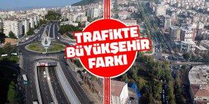 Trafikte Büyükşehir farkı