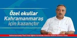 Özel okullar Kahramanmaraş için kazançtır