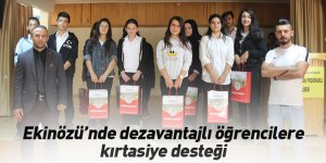 Ekinözü'nde dezavantajlı öğrencilere kırtasiye desteği