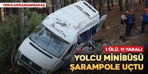 Yolcu minibüsü şarampole uçtu: 1 ölü, 11 yaralı