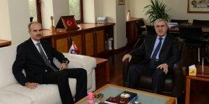 Kahramanmaraş Cumhuriyet Başsavcısı Yazıcı'dan, Rektör Can'a ziyaret