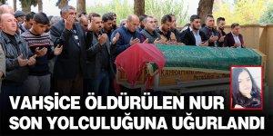 Vahşice öldürülen liseli Fatma Nur son yolculuğuna uğurlandı