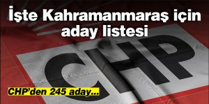 CHP'nin Elbistan ve Andırın adayları açıklandı! 245 aday
