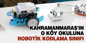 Kahramanmaraş'ın o köy okuluna robotik kodlama sınıfı