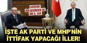 İşte AK Parti ve MHP'nin ittifak yapacağı iller! Akdeniz bölgesinden de bir il var