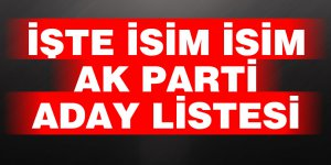 İşte isim isim  AK Parti  Aday Lİstesi