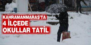 Kahramanmaraş'ta 4 ilçede okullar tatil edildi
