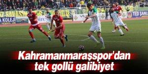 Kahramanmaraşspor'dan tek gollü galibiyet