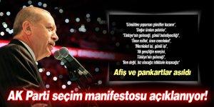 AK Parti seçim manifestosu açıklanıyor!