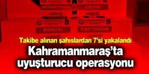 Kahramanmaraş'ta uyuşturucu operasyonu: 1 tutuklama