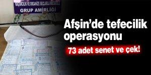 Afşin'de tefecilik operasyonu: 1 tutuklama