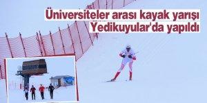 Üniversiteler arası kayak yarışı Yedikuyular'da yapıldı