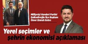 Başkan Satcı'dan, yerel seçimler ve şehrin ekonomisi açıklaması