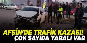 Afşin'de trafik kazası! Çok sayıda yaralı var
