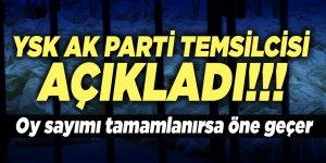 AK Parti YSK Temsilcisi Recep Özel: Oyların tamamı sayılırsa Binali Yıldırım öne geçer