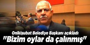 """Başkan Mahçiçek: ''Bizim oylar da çalınmış"""""""