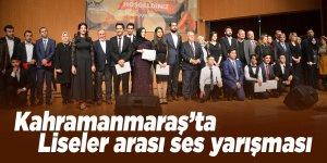 Kahramanmaraş'ta liseler arası ses yarışması yapıldı