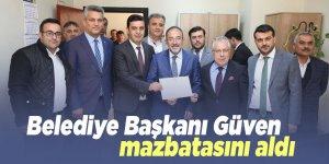 Belediye Başkanı Güven, mazbatasını aldı