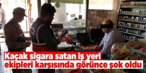 Kaçak sigara satan iş yerine ceza yağdı