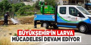 Büyükşehir'in larva mücadelesi devam ediyor
